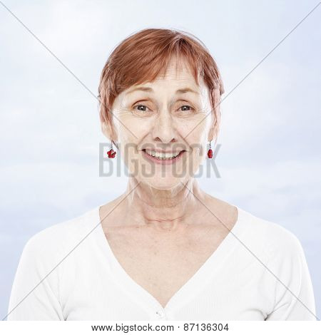 Sixty years woman smiling