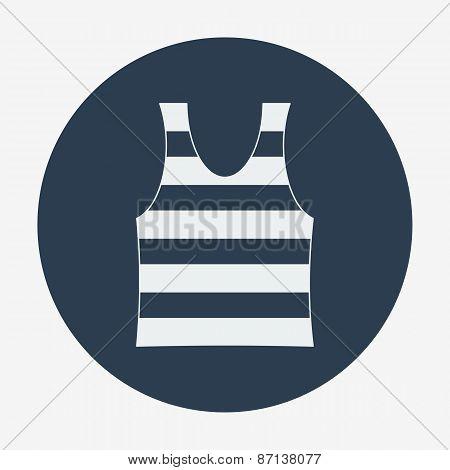 Striped singlet. Flat design vector illustration.