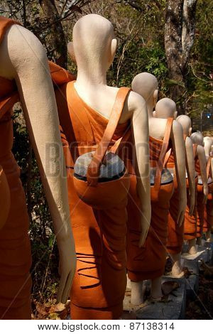 Statues Of Buddhist Nuns