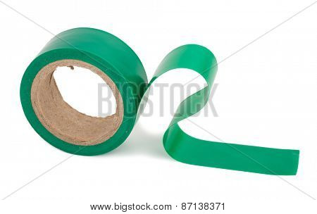 Green insulating tape roll
