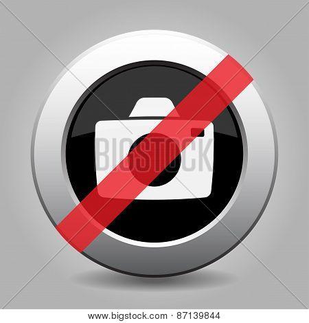 Grey Chrome Button - No Camera