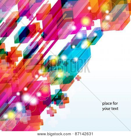 Abstract background with bright desing elements.