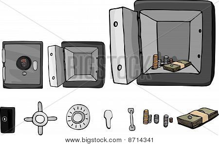 Fireproof Safe With Parts
