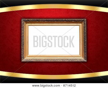 Vintage Frame on Stylish Background
