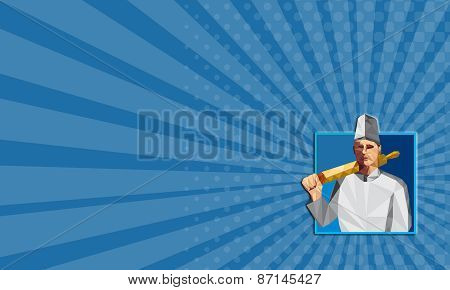 Business Card Chef Cook Rolling Pin Low Polygon