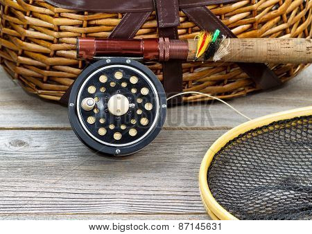Fly Fishing Gear With Creel