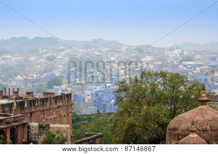Jodhpur The Blue City In Rajasthan State In India.