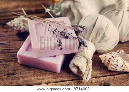 Natural soap with lavender