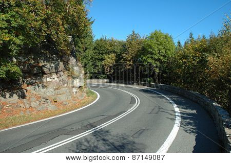 Sharp Turn On Mountain Road