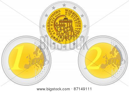 Metal Coins - Euro