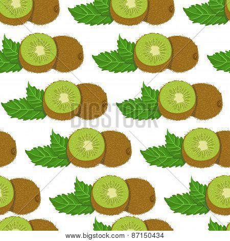 Seamless Pattern With Kiwi