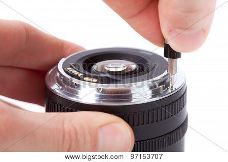 Repairing lens