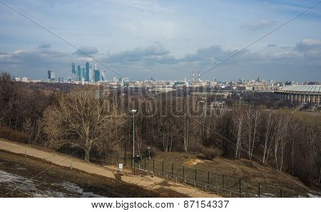 View Of The Moscow City From Sparrow Hills, Moscow, Russia