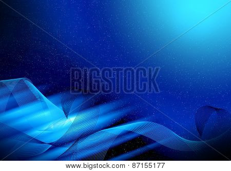Abstract Blue Graphics Background
