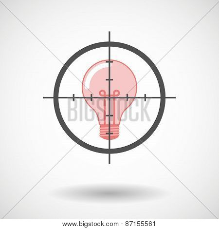Crosshair Icon With A Light Bulb