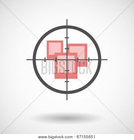 Crosshair Icon With Photos