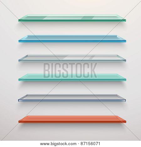 Glass Shelves Set