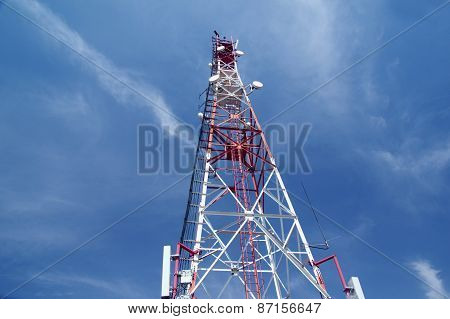 Antenna Against Blue Sky