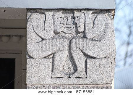 Vyborg. Russia. Detail of a residential house