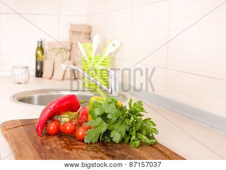 Vegetable On Countertop