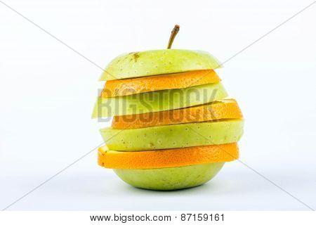 Slices Of Apple And Orange