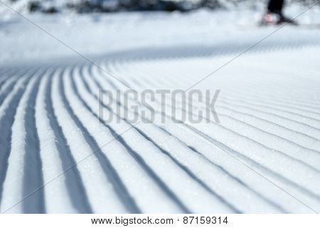 Prepared ski slope
