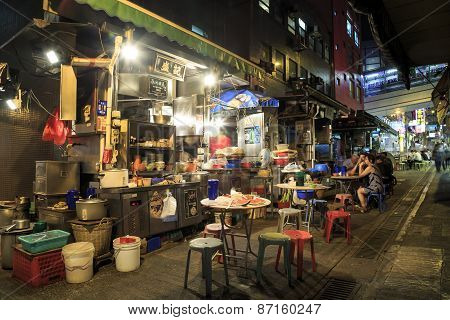 Cooked-food Stall In Central, Hong Kong