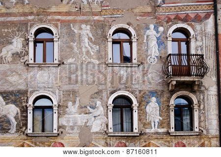 Front Of An Ancient Building, Trento