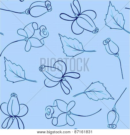 Background Of Blue Roses