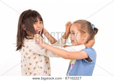 Young Girls Fighting