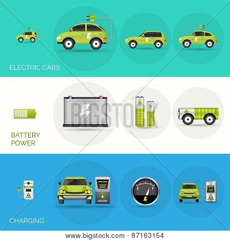Electric Car Banners