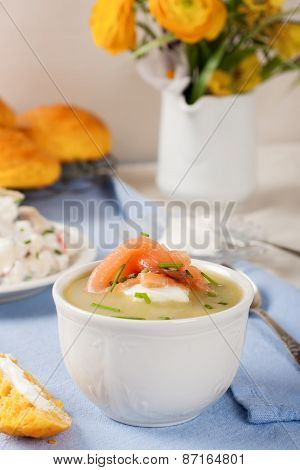Delicious leek cream soup