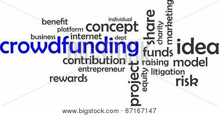 word cloud - crowdfunding