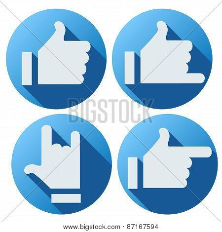 Flat style of like button for social networking