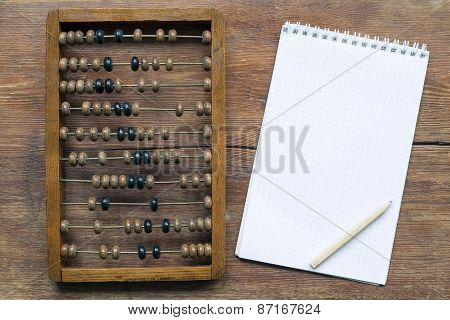Abacus With Notepad