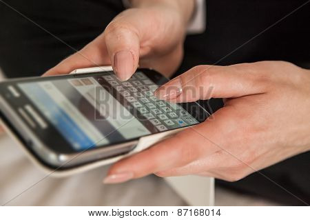 Woman Texting Sms