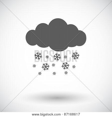 Snowfall single icon.