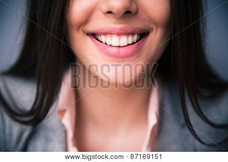 Closeup image of female smile