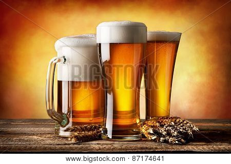 Three beers and wheat