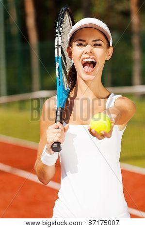Tennis Is Her Life.