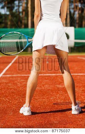Feeling Confident On Tennis Court.