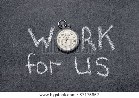 Work For Us