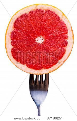 Grapefruit On A Fork
