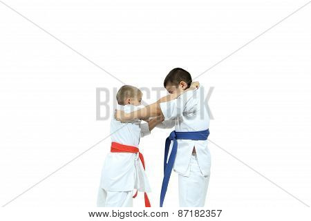 Capture of the judogi are doing two athletes