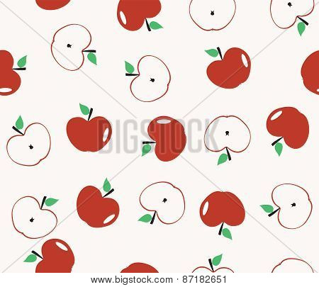 Seamless background pattern with apple