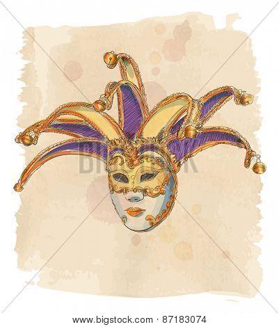 Venetian Mask. Vector illustration. Eps10