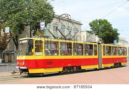 Czech-made Tatra Trams In Vinnytsia, Ukraine