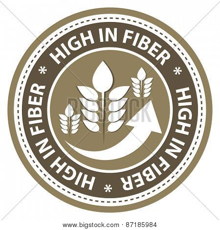 High fiber food product label.