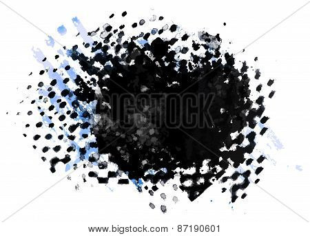 Abstract ink grunge texture vector