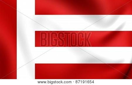 Flag Of Eindhoven, Netherlands.